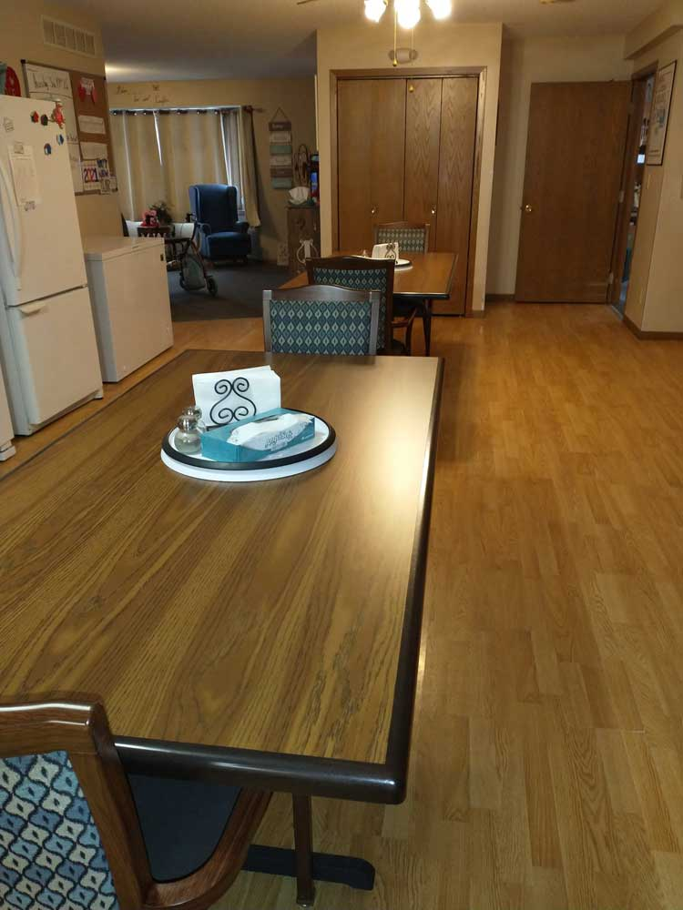 Pine view Assisted Living Dinner Room